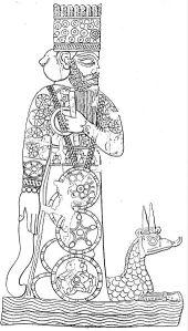 Marduk astride Tiamat