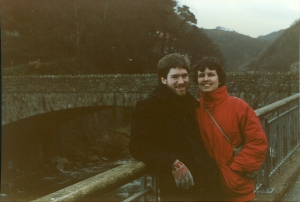 A young couple's anniversary in Wales.