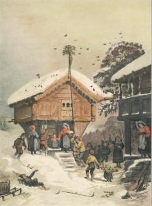 Adolph_Tidemand_Norsk_juleskik