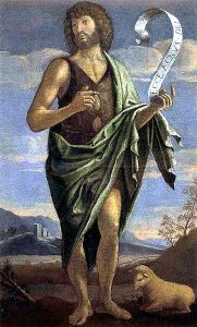 John the Baptist with the number of the HVAC guy